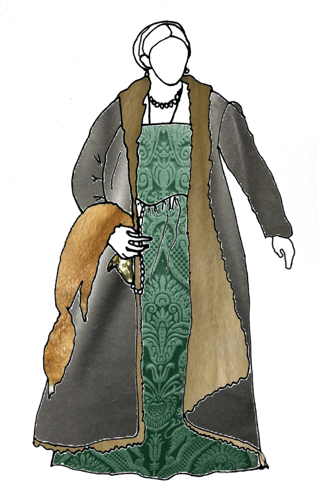 fabrics & furs for the Livia di Porto Thiene outfit project