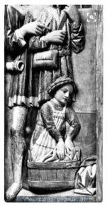 medieval washerwoman wearing apron
