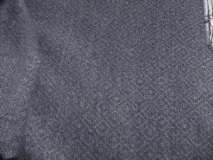 Pale blue & grey diamond twill