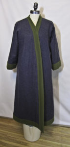 Blue Viking coat with green borders