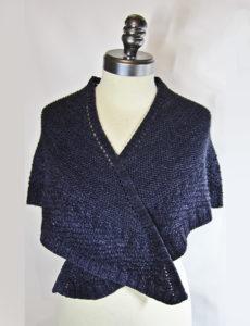 Blue Faroese shawl
